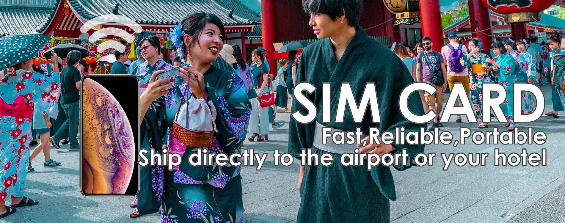 Japan Unlimited wifi & SIM Card Rental CDJapan Rental